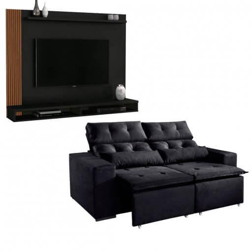 Kit Sofa Uba com Painel Para Tv Dijon
