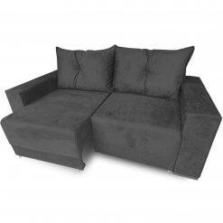 Sofa Retratil Estrela com Almofadas Soltas e Tecido Suede preto