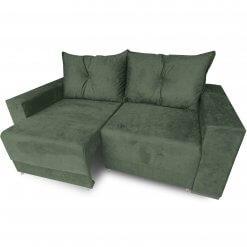 Sofa Retratil Estrela com Almofadas Soltas e Tecido Suede verde