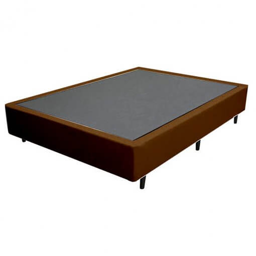 Base Cama Box Casal 25x138x188cm marrom
