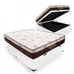 Cama Box Com Bau sleep king ortobom bipartida casal