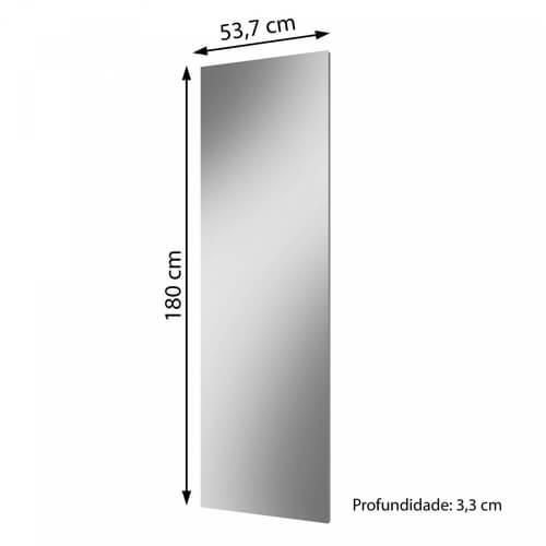 Quadro de Espelho 180cm Flora Mavaular medidas