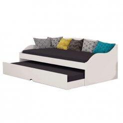 Sofa Cama com Cama Auxiliar Lais Cimol Branco