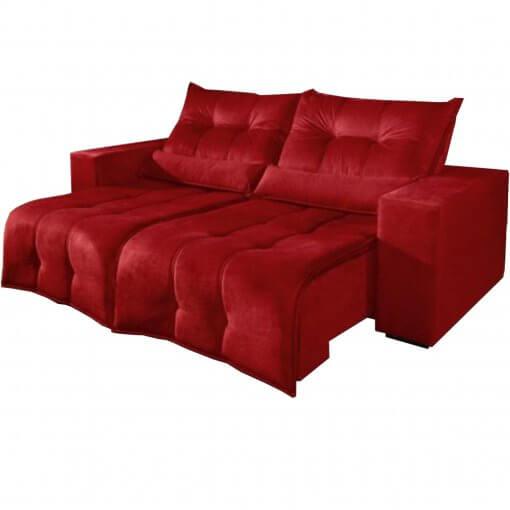 Sofa Retratil e Reclinavel 3 lugares 210cm turim vermelho