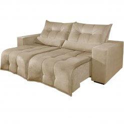 Sofa Retratil e Reclinavel 3 lugares turim bege