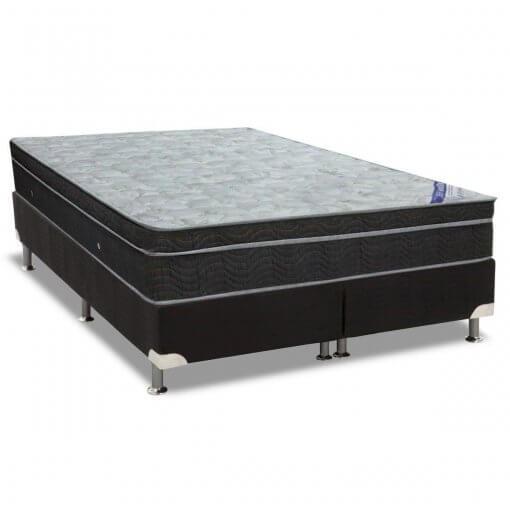 cama box bipartida com colchao ortobom light nanolastic