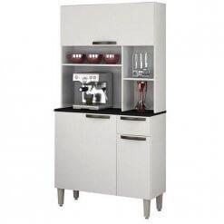 Armario De Cozinha 3 Portas 1 Gaveta Jaspe Salleto Branco