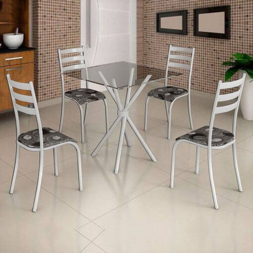 Conjunto-De-Mesa-Ipanema-Tampo-vidro-Com-4-Cadeiras