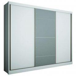 Guarda Roupa Casal Com Espelho 3 Portas 6 Gavetas Natus Novo Horizonte Branco