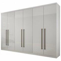 Guarda Roupa Casal SEM Espelho 6 Portas 8 Gavetas Bari Novo Horizonte Branco