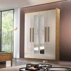 Guarda-Roupa-Rufato-Espanha-4-Portas-e-2-Gavetas-Imbuia-Off-White-com-espelho