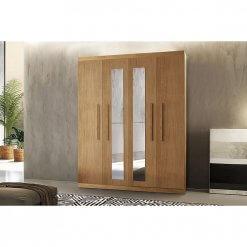 Guarda-Roupa-Rufato-Espanha-4-Portas-e-2-Gavetas-Imbuia-com-espelho