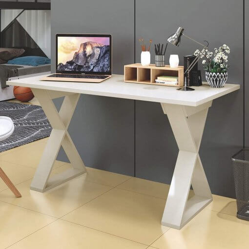Mesa Escrivaninha Versatil Mavaular Moveis Branca