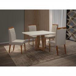 Mesa Vitra com 4 Cadeiras 120x90
