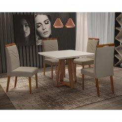 Mesa Vitra com 4 Cadeiras 90x90