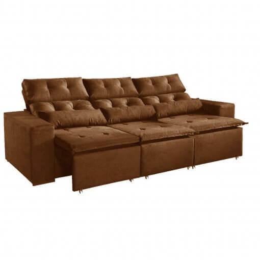 Sofa-Montreal-265cm-Retratil-e-Reclinavel-Tecido-Suede-Marrom