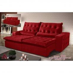 Sofa Retratil e Reclinavel 250cm Bari vermelho