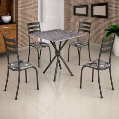 conjunto mesa de jantar 4 cadeiras ipanema