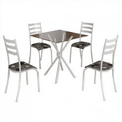 conjunto mesa de jantar 4 cadeiras ipanema branca