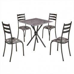 conjunto mesa de jantar 4 cadeiras ipanema preta
