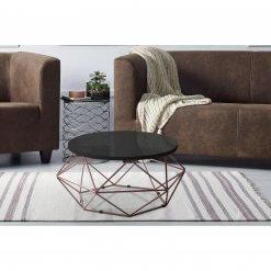 mesa de centro aramada bronze