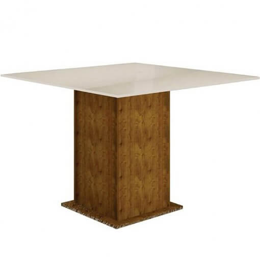 mesa de jantar 4 cadeiras napoli canela off