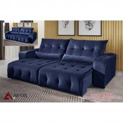 sofa retratil e reclinavel padua azul