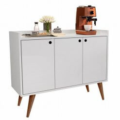 Buffet Retro Wood Prime Branco