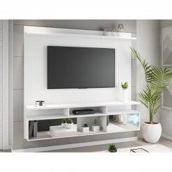 Painel para TV ate 55 Polegadas Belo com Espelhos Branco