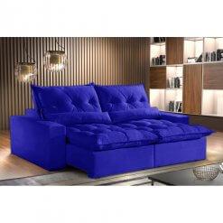 Sofa Avalon Retratil e Reclinavel 230cm Montano Estofados Azul
