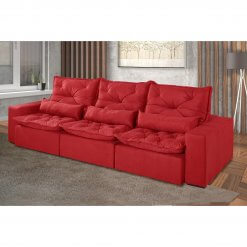 Sofa Retratil e Reclinavel Recreio 6 Lugares 320cm vermelho