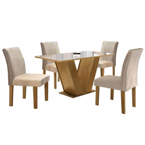 Conjunto Mesa de Jantar com 4 Cadeiras Classic