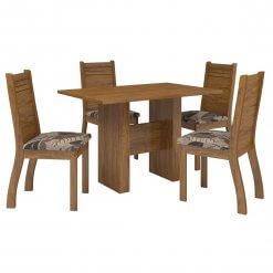 Conjunto Mesa de Jantar com 4 Cadeiras Duna Viero Moveis