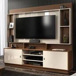 Estante Home Nevada para TV ate 50 Polegadas Naturale Off White