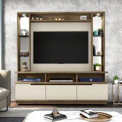 Estante Home Para TV ate 46 Polegadas Vancouver Freijo Off White
