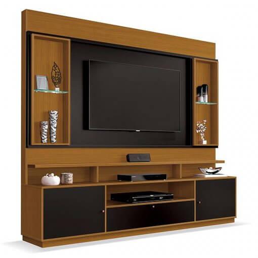 Home Ravello Para TV ate 58 Polegadas EDN Moveis Cedro com Preto