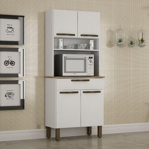 Kit Cozinha Turim 4 Portas Branco