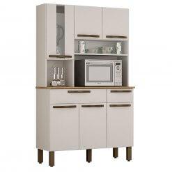 Kit Cozinha Turim 6 Portas Branco_