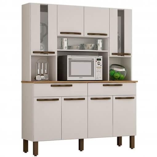 Kit Cozinha Turim 8 Portas Branco_