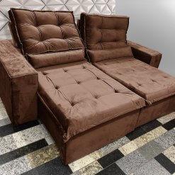 Sofa 4 Lugares Retratil e Reclinavel Heitor Foto