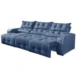 Sofa Retratil e Reclinavel 3 Modulos Minas Azul