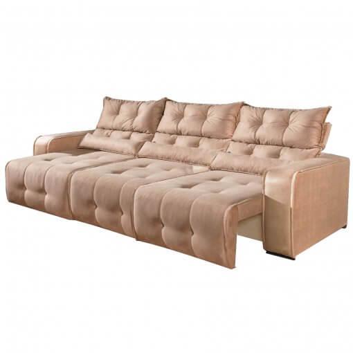Sofa Retratil e Reclinavel 3 Modulos Minas Bege
