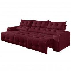Sofa Retratil e Reclinavel 3 Modulos Minas Bordo