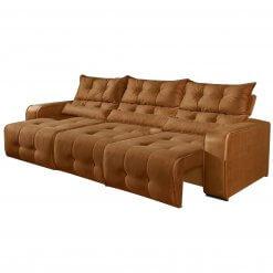 Sofa Retratil e Reclinavel 3 Modulos Minas Cobre