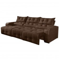 Sofa Retratil e Reclinavel 3 Modulos Minas Marrom