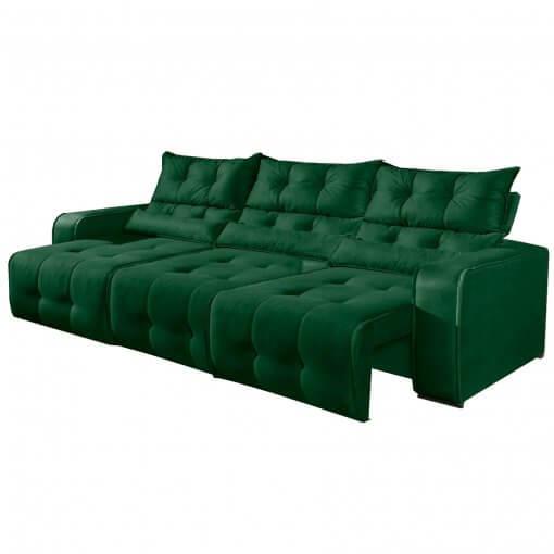 Sofa Retratil e Reclinavel 3 Modulos Minas Verde