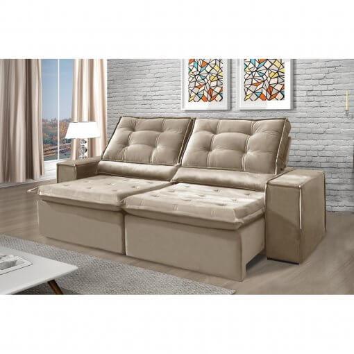 Sofa Retratil e Reclinavel Heitor Bege