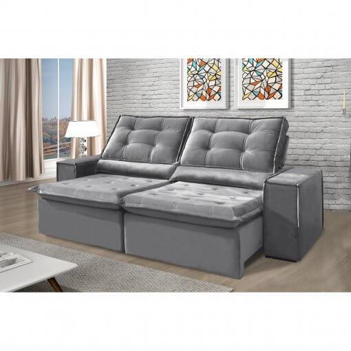 Sofa Retratil e Reclinavel Heitor Cinza