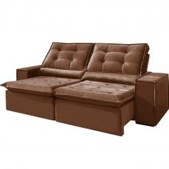 Sofa Retratil e Reclinavel Heitor Marrom