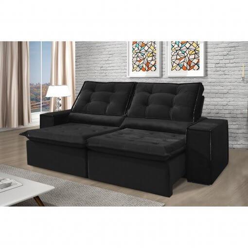 Sofa Retratil e Reclinavel Heitor Preto